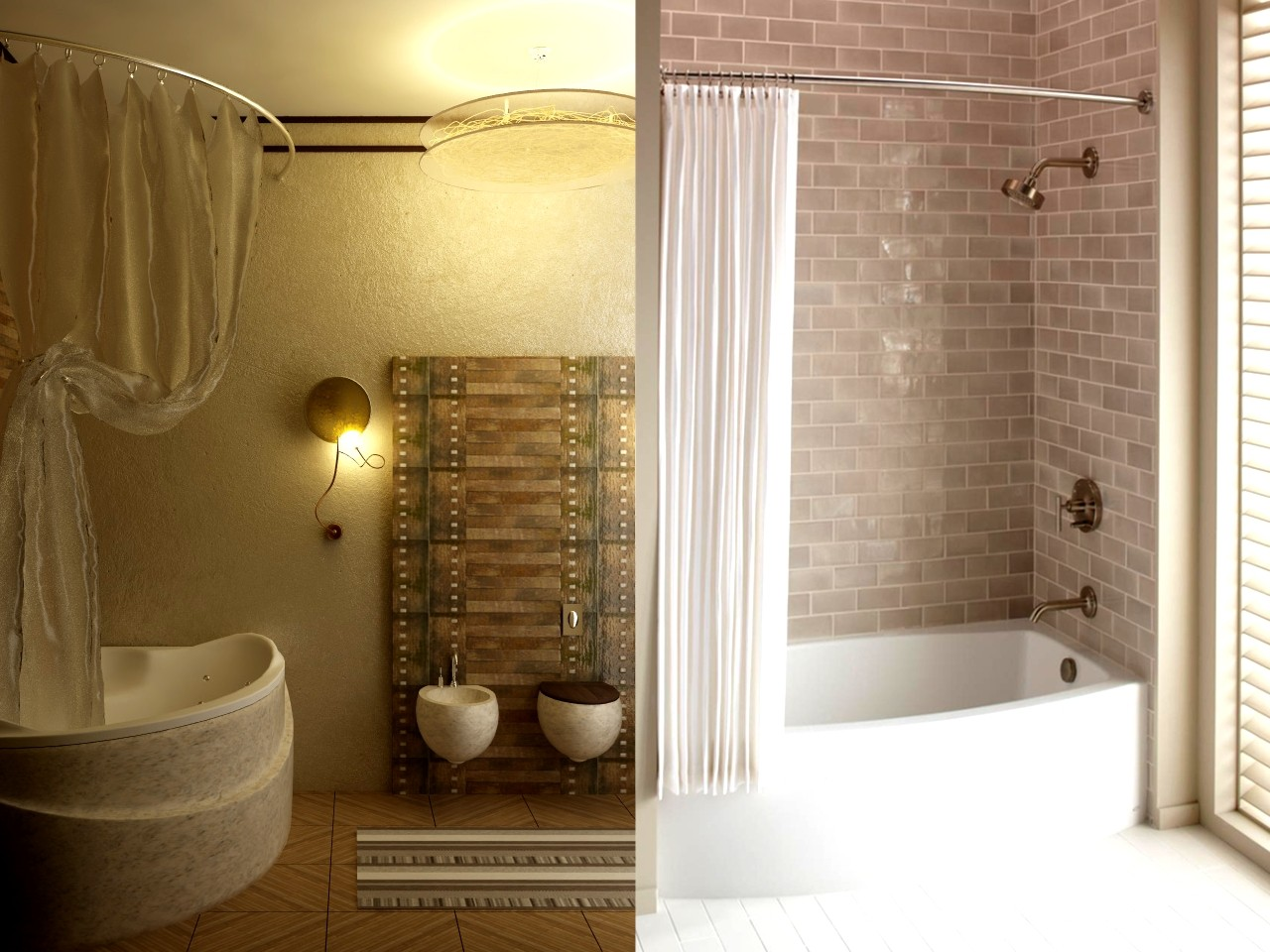 Combo bathtub and shower classic