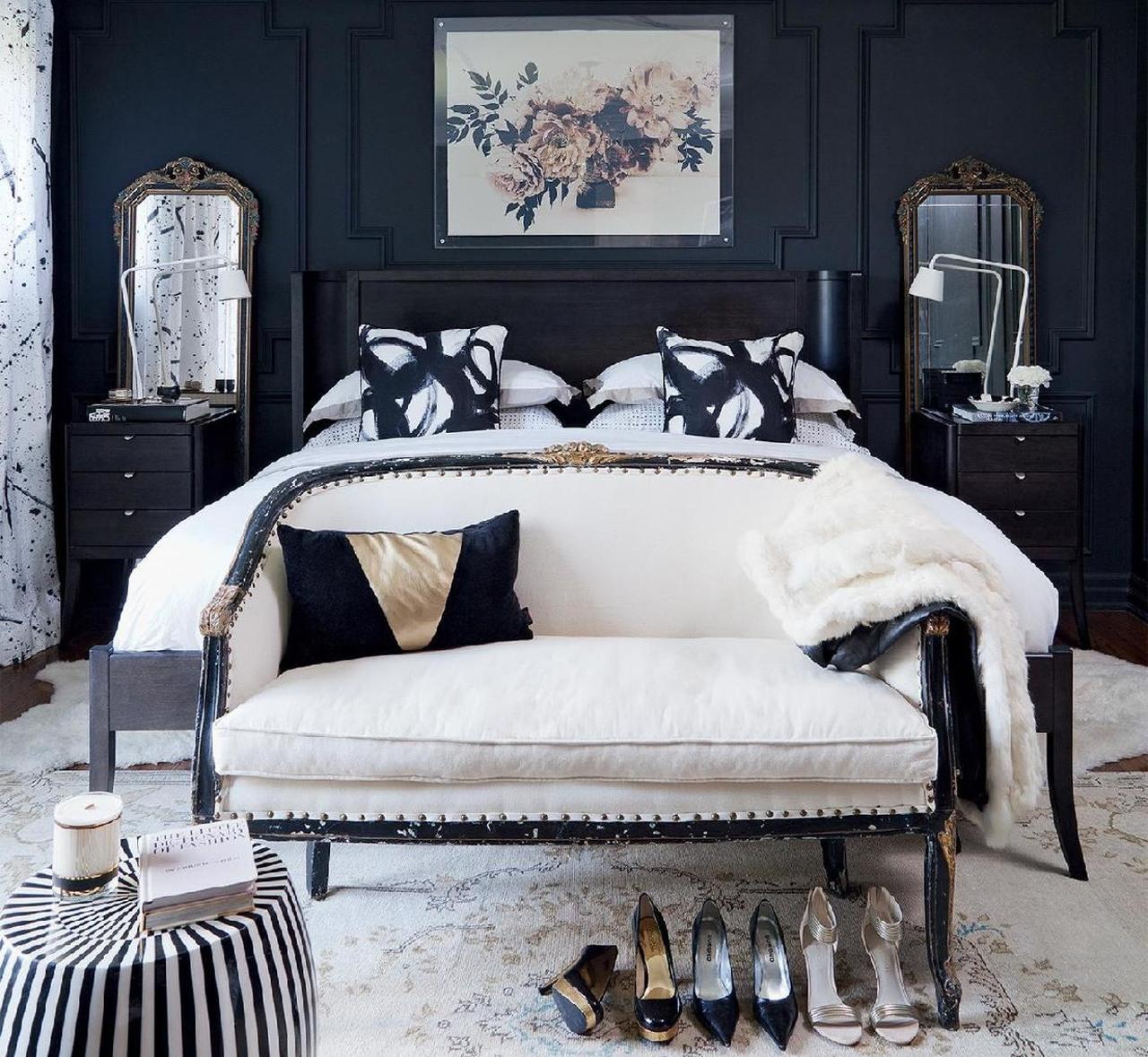 Colour contrast bedroom