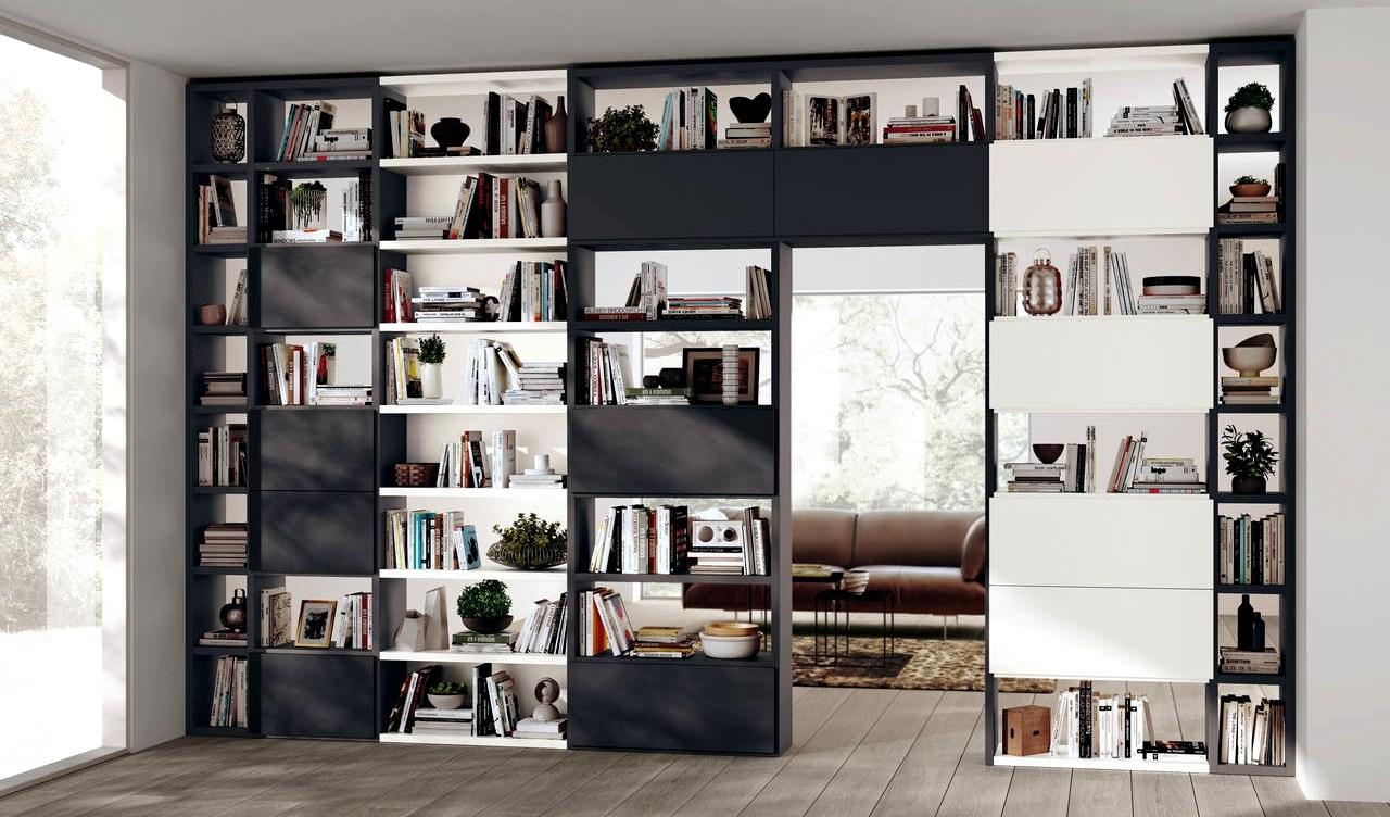Mobile libreria a parete di Scavolini