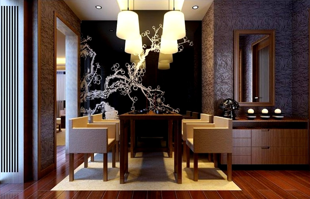Wallpaper design for the dining room