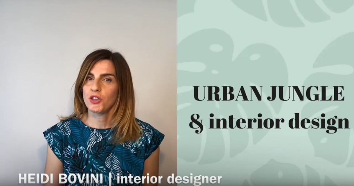 stile urban stile jungle nell'interior design